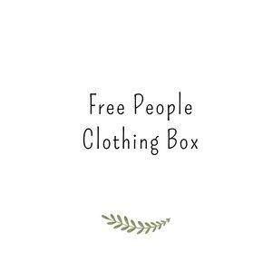 5 item Free People box Jeans,skirts ,jumpsuit,pant